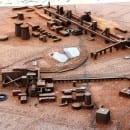 Stahlmodell Zollverein - vorne Zeche, hinten Kokerei